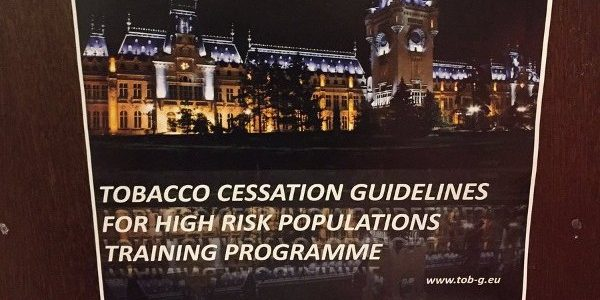 TOB-G Project training in Iasi on tobacco cessation guidelines for high risk populations